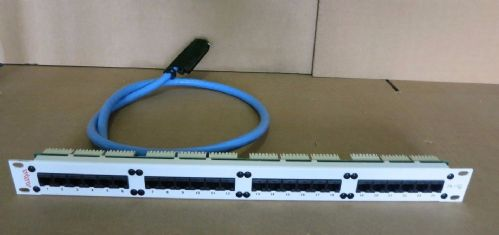 "AVAYA 24 PORT PATCH PANEL RJ45 Cat-5 700012909 19"" With Data Cable Included"